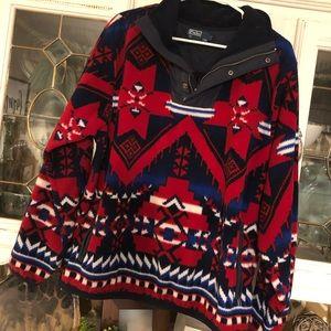 Polo Ralph Lauren Aztec 1/4 zip fleece pullover